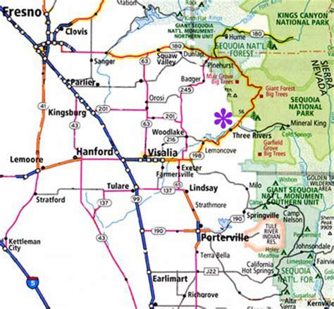 three rivers map three rivers california the gateway to sequoia and