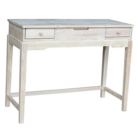 unfinished wood vanity table international concepts unfinished vanity table store