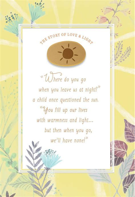 The Story of Love and Light Encouragement Card   Greeting