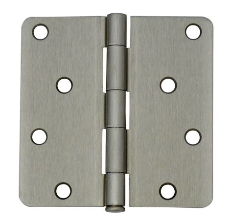 everbilt 4 inch satin nickel 1 4rd door hinge the home