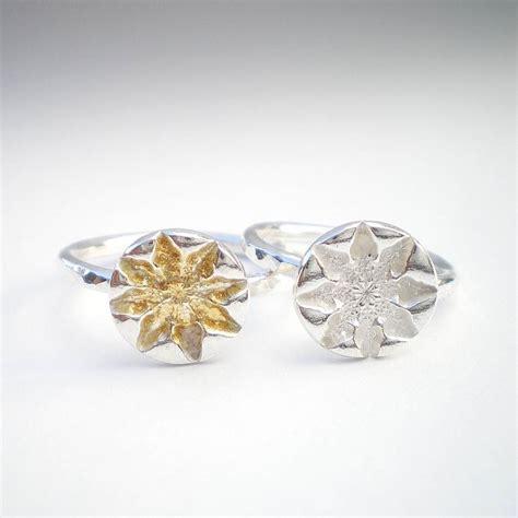 silver snowflake ring by ali bali jewellery