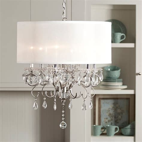 Drum Shade Chandelier In Different Dining Rooms To Try Dining Room Drum Light