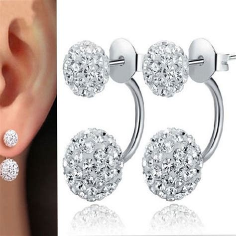 Anting Earrings butterfly earrings white 925 sterling silver anting wanita white jakartanotebook