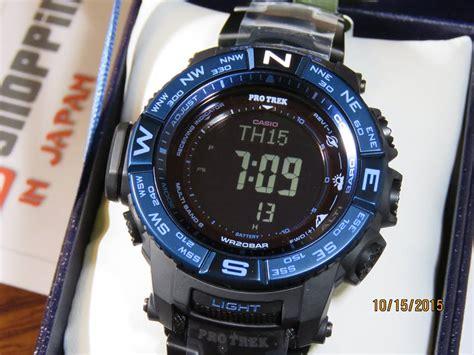 Casio Protrek Prw 3500syt 1dr Black Blue live photos protrek prw 3500syt 1 titanium blue moment