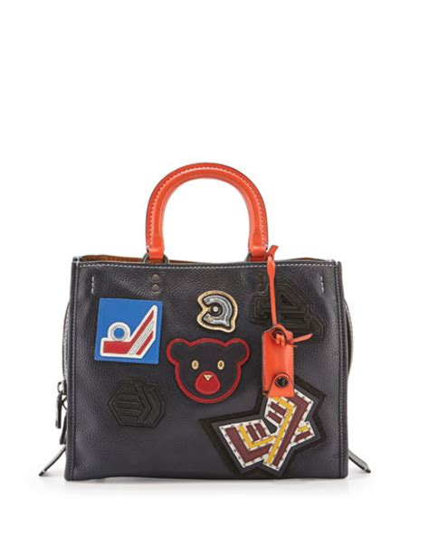 Coach 1941 Rogue 25 In Glovetanned Pebbled Leather coach 1941 rogue varsity patch leather tote bag navy