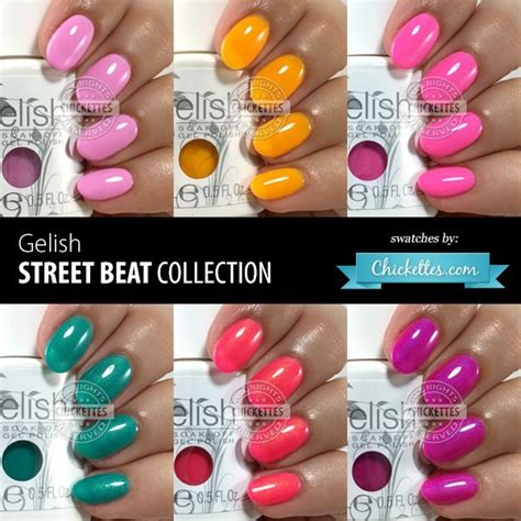 gelish color swatches gelish beat collection swatches summer 2016