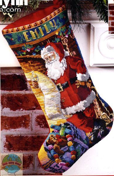 needlepoint patterns for christmas stockings wool christmas stocking needlepoint kit google search