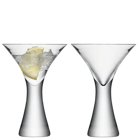 Handmade Martini Glasses - set of 2 handmade lsa gin cocktail martini glasses 7 7oz