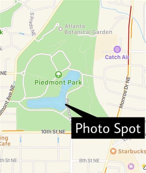 piedmont park atlanta map piedmont park map united