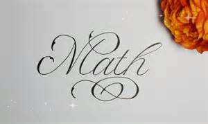 how to write in cursive fancy math