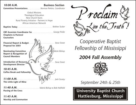 Free Printable Church Program Template slideshow