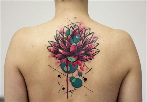 colored flower tattoos lotus tattoos
