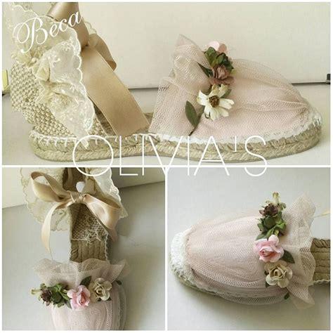 como decorar zapatillas de esparto para comunion olivia s alpargatas capazos zapatos decorados y