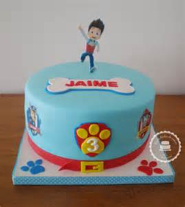 Paw patrol cake for jaime s 3th birthday images printed on wafer