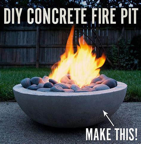fiery diy    super cool modern concrete fire pit