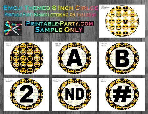 printable emoji birthday banner printable emoji birthday party decorations emoji party