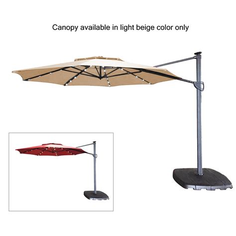 Patio Umbrella Replacement Canopy Lowes Replacement Canopy For Simply Shade 11ft Led Umbrella