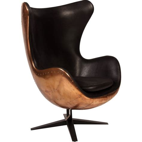 Mid Century Leather Chair by Aviator Egg Chair Commercial Furniture