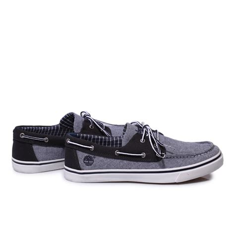 timberland blue grey earthkeepers new market canvas boat