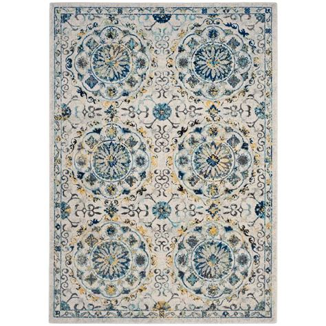 Area Rugs In Blue Safavieh Evoke Ivory Blue 8 Ft X 10 Ft Area Rug Evk252c 8 The Home Depot