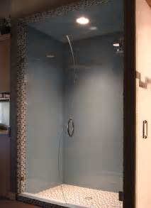 glass shower walls and doors diagenesis two colored walls in bathroom