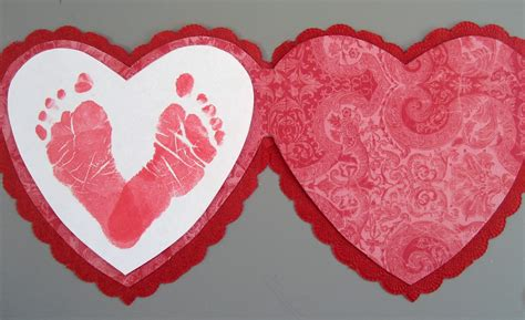 valentines day kindergarten preschool crafts for s day footprint card
