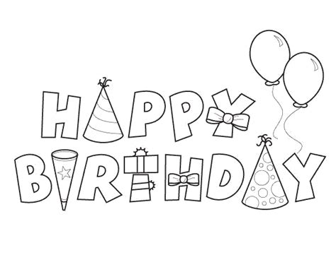 Happy Birthday Coloring Pages Free Printable Pictures Happy Birthday Coloring Pages For