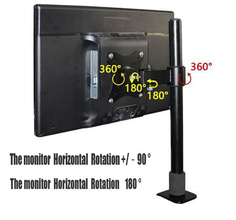 Dekstop Lcd Universal universal lcd monitor desk computer stand 360 176 swivel tv bracket 13 quot 27 screen ebay
