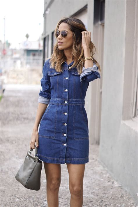 blue jean dress with boots denim dress