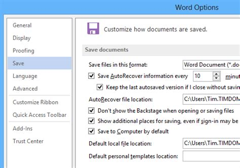 word 2013 my templates why custom templates might not appear in word 2013 tim