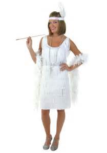 white dress halloween costume plus size white flapper costume