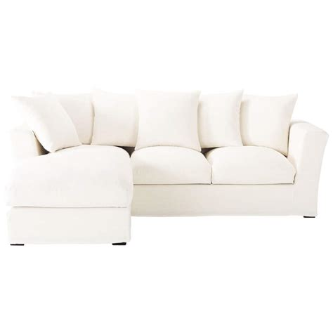 white linen sofa uk 5 seater linen corner sofa in white bruxelles maisons du