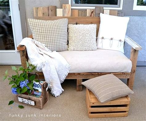 Sofa Made From Pallets by Pallet Wood Outdoor Sofa Reveal Funky Junk Interiorsfunky Junk Interiors