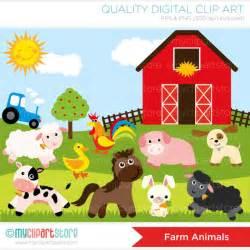 Puppy Barn Reviews Clipart Old Mc Donnald Farm Animals Digital Clip Art