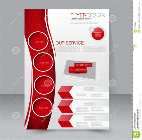 flyer and brochure templates flyer template business brochure editable a4 poster