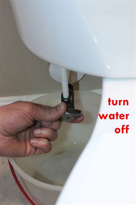 turn off water under how to replace a toilet fill valve