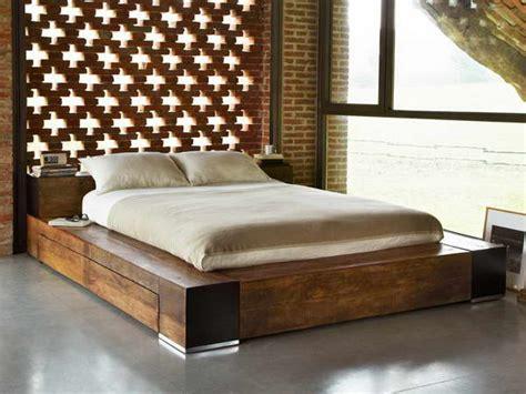 bedroom frames natural teak wood low profile bed frame with hidden