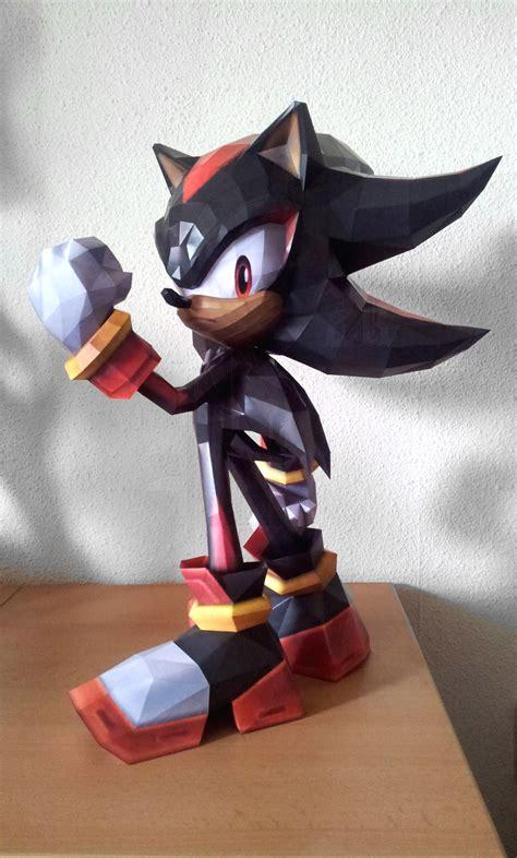 Shadow Papercraft - shadow the hedgehog nintendo papercraft