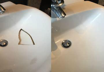 bathroom sink chip repair bath re enamelling bath sink chip repair bathglaze com