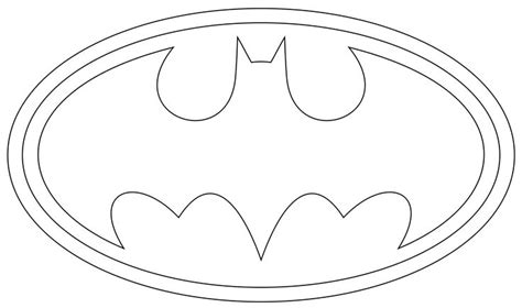 printable batman logo batman logo outline to print and use symbols pinterest