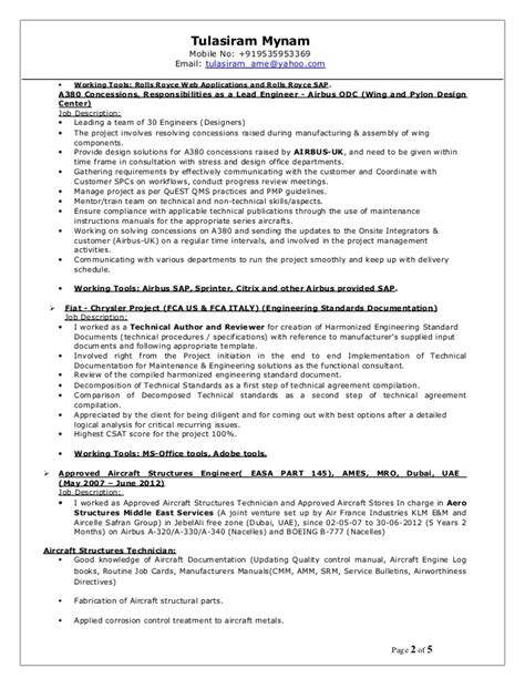 statistician resume sle aircraft structural repair description the best