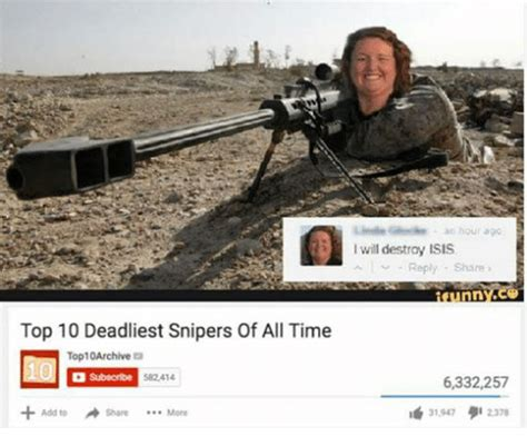 Top 10 Memes Of All Time - top 10 deadliest snipers of all time top10archive