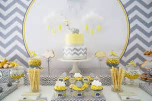 Grey Theme 31 baby shower decorating ideas with gray amp yellow theme