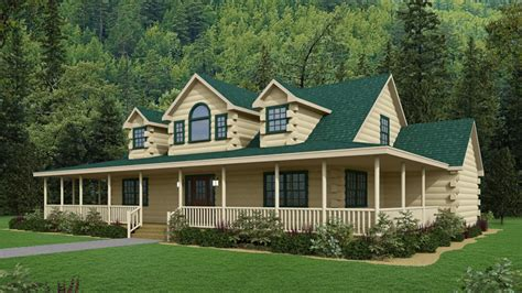 5 bedroom log cabin kits log cabin with wrap around porch the bristol