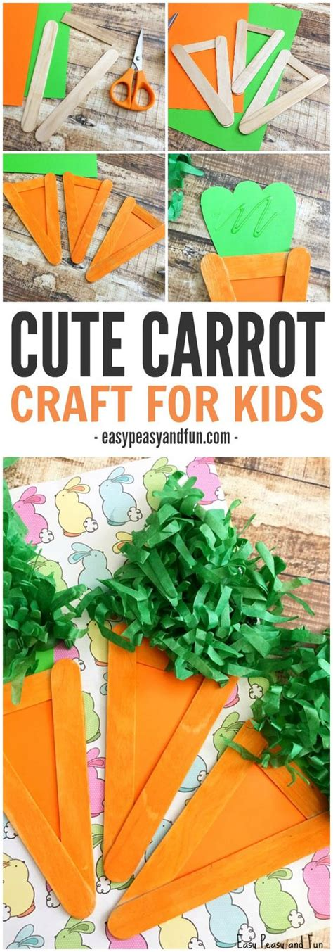 carrot craft for carrot craft easter craft idea for popsicles for
