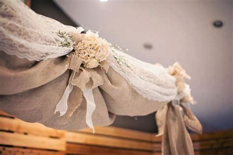 burlap draping wedding 1000 ideas about burlap wedding arch on pinterest