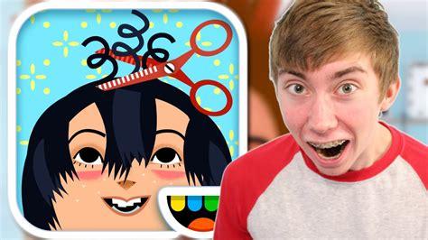 haircut spa games toca hair salon 2 iphone gameplay video youtube