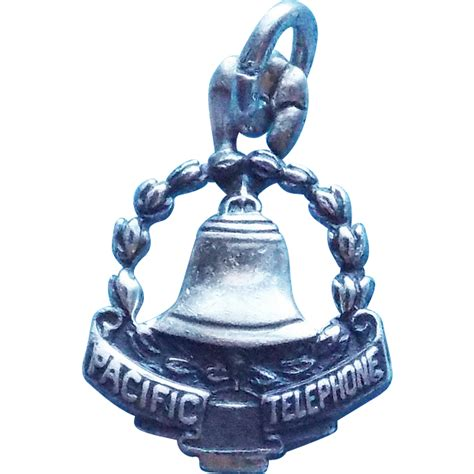 Pacific Bell Phone Lookup Sterling Pacific Bell Phone Company Vintage Estate Charm From Jewelpigs On Ruby