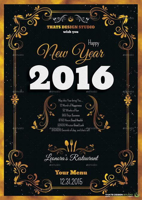 new years menu template new year menu template v1 graphicriver