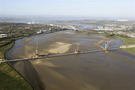 place north west mersey bridge construction enters
